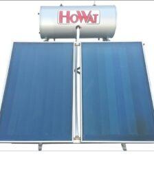 Ηλιακός Θερμοσίφωνας Τριπλής ενεργείας 200lt Howat Inox-Επιλεκτικός Συλλέκτης 4 m²