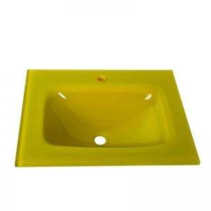Νιπτήρας Μπάνιου GLASS FORM YELLOW