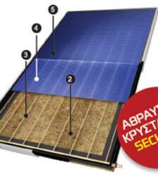 Ηλιακός θερμοσίφωνας 120lt τριπλής ενεργείας cosmosan (συλλεκτική επιφάνεια 2 m2)