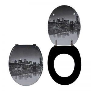 Καπάκι-Κάλυμμα Λεκάνης Ξύλινο Trendy Line Brooklyn Bridge