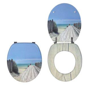 Καπάκι-Κάλυμμα Λεκάνης Ξύλινο Trendy Line Holiday Beach