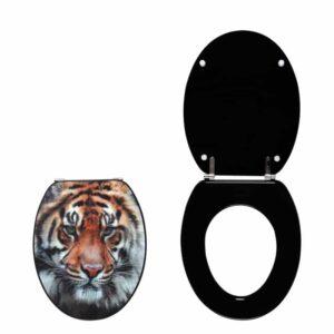 Καπάκι-Κάλυμμα Λεκάνης Ξύλινο Trendy Line Tiger 3D