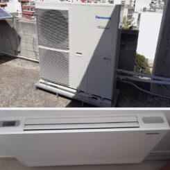 Εγκατάσταση Αντλίας Θερμότητας σε συνεργασία με Fan Coil